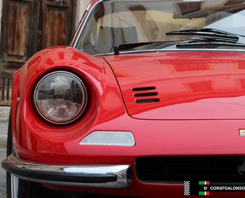 restauro Ferrari 246 gts 1972 rosso restoration project Corato Alonso