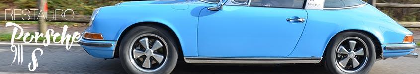 restauro porsche 911 s targa pastel blau azzurro pastello banner