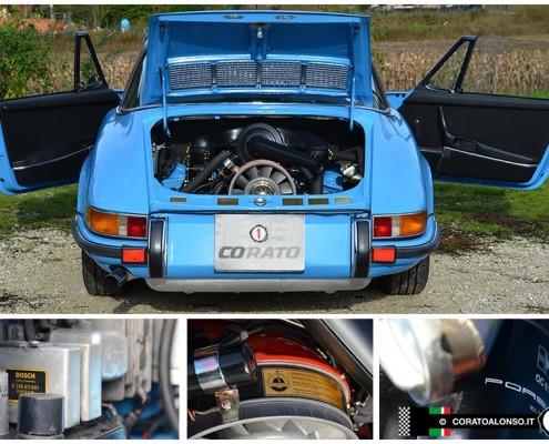 Restauro: Porsche 911 S Targa Azzurro Pastello pastel blau eseguito presso la Carrozzeria Corato Alonso di Vicenza