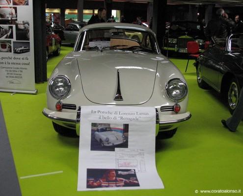 Fiera auto d'epoca a Vicenza stand Corato con Porsche 356 coupè