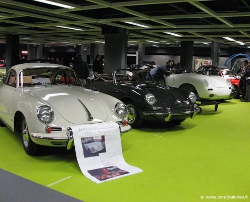 Fiera auto d'epoca a Vicenza stand Corato con Porsche 356 coupè e cabriolet