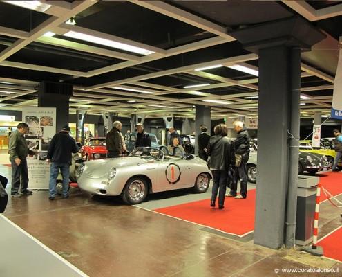 Fiera auto d'epoca a Vicenza stand Corato con Porsche 356 N1