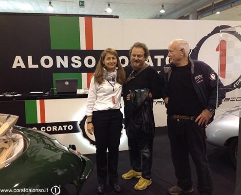 fiera Auto e Moto d'Epoca di Padova Stand di Corato Alonso con Zucchero Fornaciari