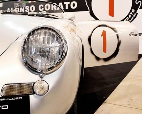 fiera Auto e Moto d'Epoca di Padova Stand di Corato Alonso con Porsche 356 N1
