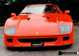 restauro Ferrari F40 del 1987 Rosso restoration project Corato Alonso