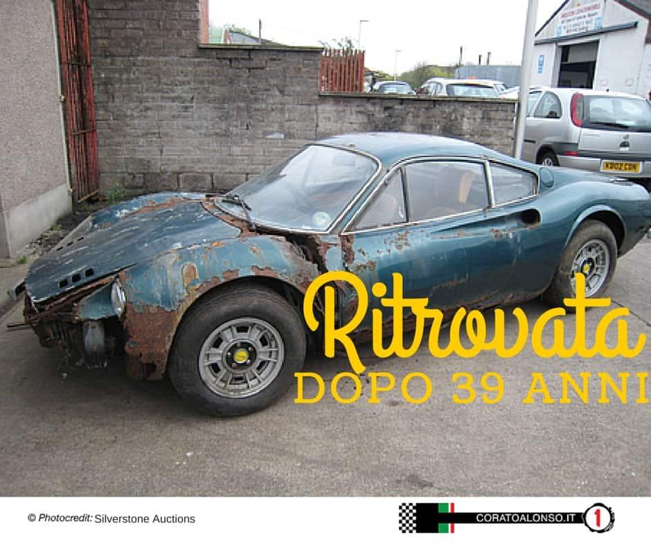 Barn Find: Ritrovata Ferrari Dino 246 dopo 39 anni