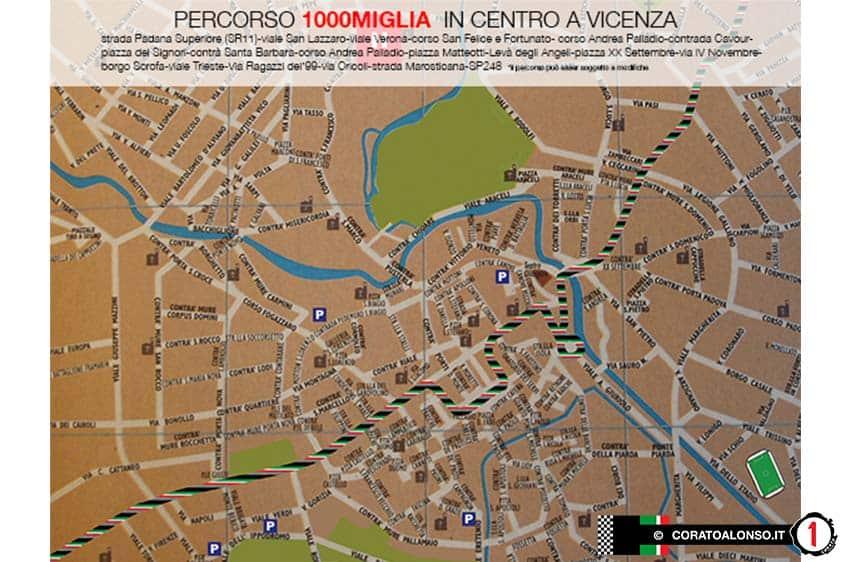 Mille miglia 2014: percorso dove passa la 1000 miglia a Vicenza