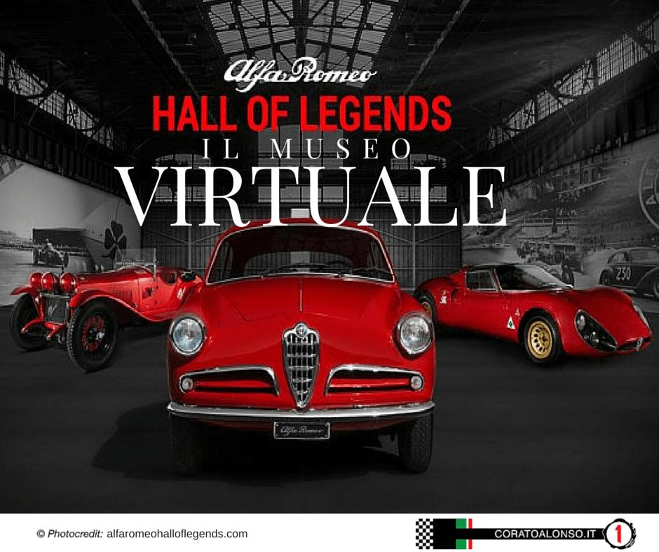 Hall of Legends Alfa Romeo, realizzato un museo virtuale.