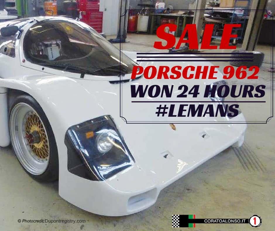 Vendesi:Porsche 962 vincitrice alla 24 ore di Le Mans