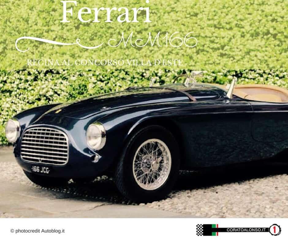 Alfa Romeo 8C e Ferrari 166 MM le più belle di Villa d'Este 2015