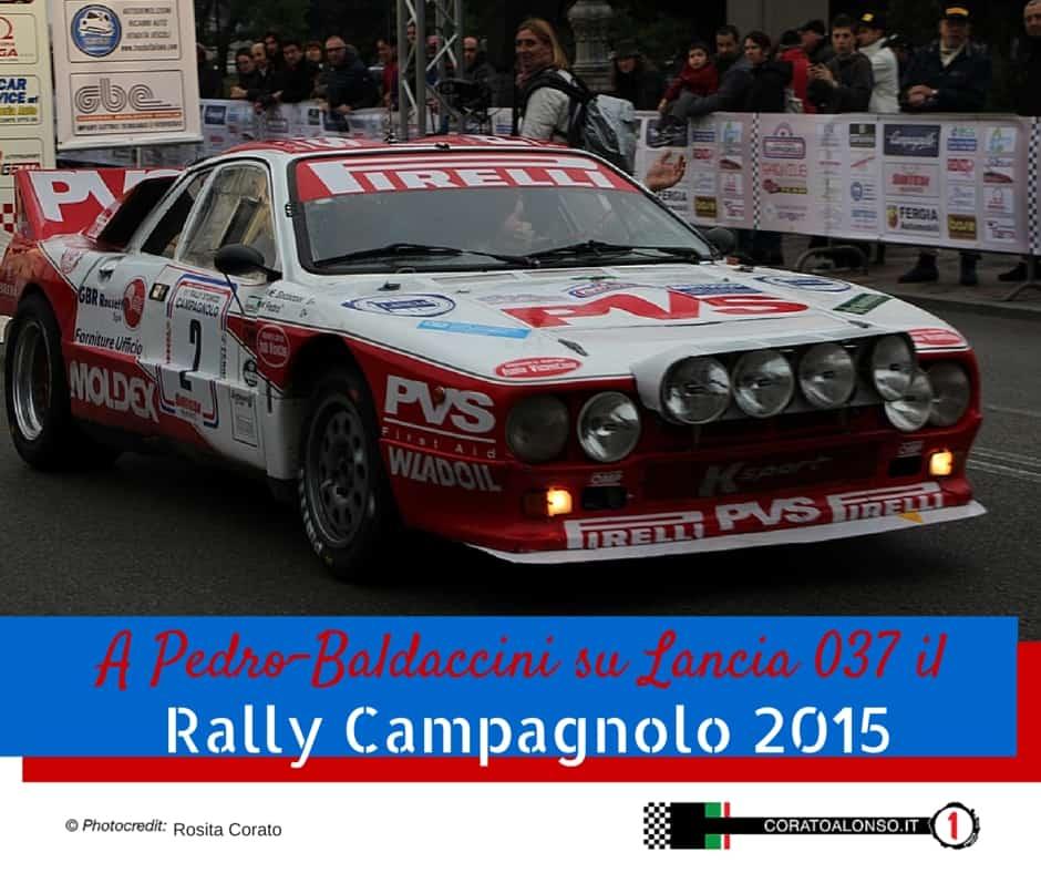 RALLY CAMPAGNOLO 2015: Pedro-Baldaccini su Lancia 037 meritano la vittoria!