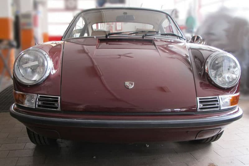 1971 Porsche 911 2.2 S coupè burgundy red
