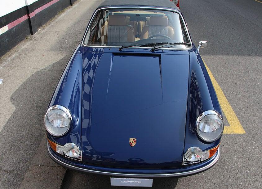 1973 Porsche 911 2.4 E targa albert blue