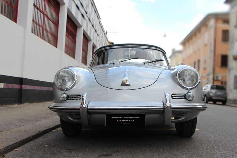 1961 Porsche 356 BT5 cabriolet heron grey