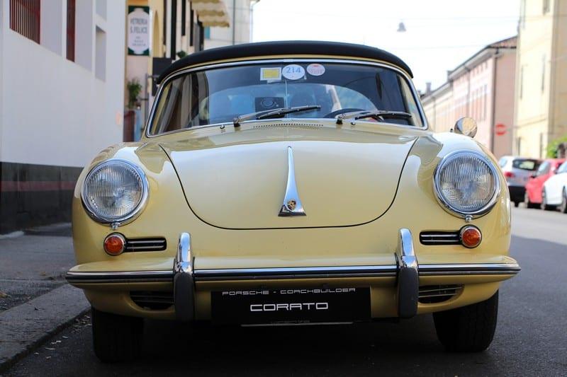 1964 Porsche 356 C cabriolet champagne yellow