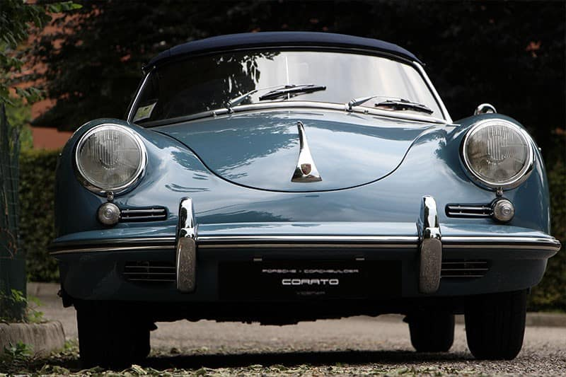 1959 Porsche 356 B roadster aetna blue