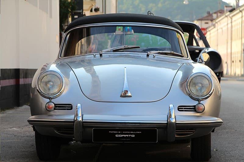 1965 Porsche 356 SC cabriolet dolphin grey