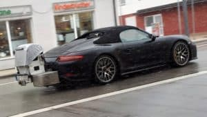Porsche 911 Speedster 2019: test nel traffico prima del debutto