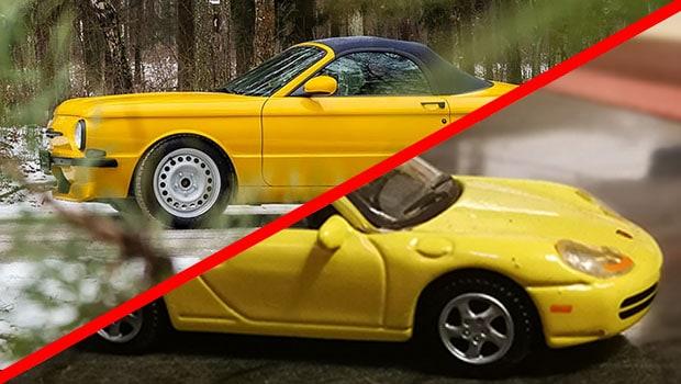Porsche Boxster trasformata in Zaporozeths. Pura follia?