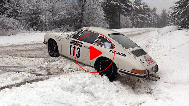 Rally Montecarlo Historique 2019: Porsche, neve e derapate