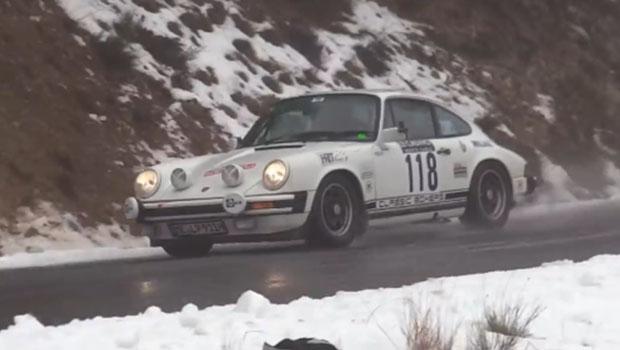 rally-montecarlo-historique-porsche-neve